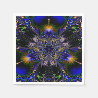 Abstract Pattern Blue Background Paper Napkins