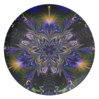 Abstract Pattern Blue Background Plate
