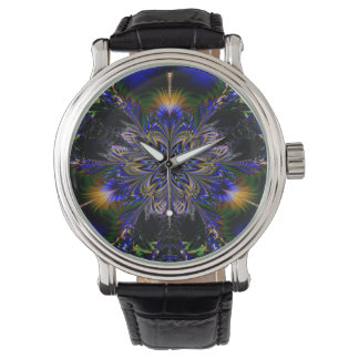 Abstract Pattern Blue Background Watch