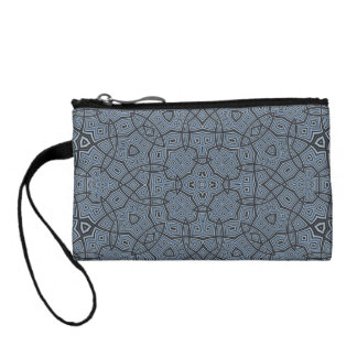 Abstract Pattern blue Change Purses