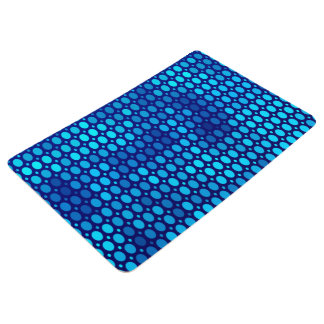 Abstract Pattern Blue Circles Floor Mat
