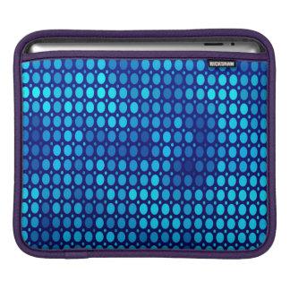 Abstract Pattern Blue Circles iPad Sleeve
