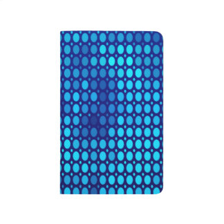 Abstract Pattern Blue Circles Journal
