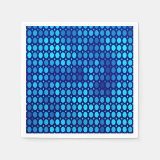 Abstract Pattern Blue Circles Paper Serviettes