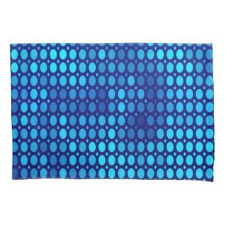 Abstract Pattern Blue Circles Pillowcase