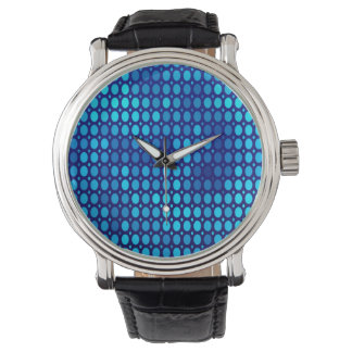 Abstract Pattern Blue Circles Watch