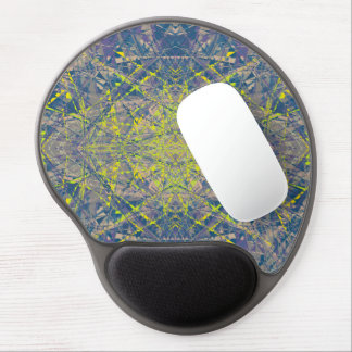 Abstract Pattern Blue Crystal Look Background Gel Mouse Mat