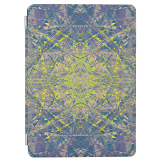 Abstract Pattern Blue Crystal Look Background iPad Air Cover