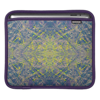 Abstract Pattern Blue Crystal Look Background iPad Sleeves