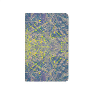 Abstract Pattern Blue Crystal Look Background Journal