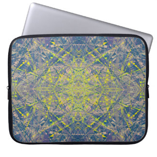 Abstract Pattern Blue Crystal Look Background Laptop Sleeve
