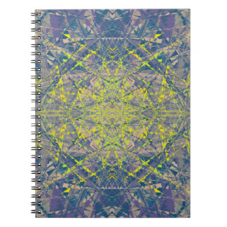 Abstract Pattern Blue Crystal Look Background Notebook