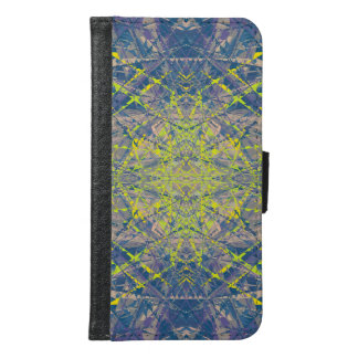 Abstract Pattern Blue Crystal Look Background Samsung Galaxy S6 Wallet Case