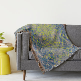 Abstract Pattern Blue Crystal Look Background Throw Blanket