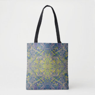 Abstract Pattern Blue Crystal Look Background Tote Bag