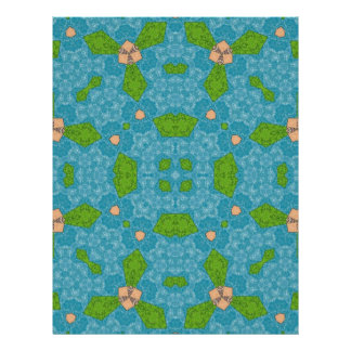 Abstract Pattern blue Flyers