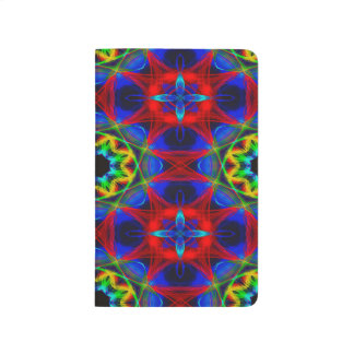 Abstract Pattern Blue Green And Red Background Journal