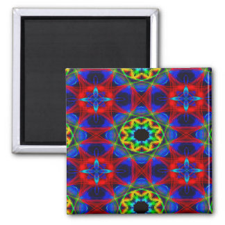 Abstract Pattern Blue Green And Red Background Magnet