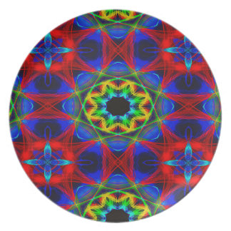 Abstract Pattern Blue Green And Red Background Plate