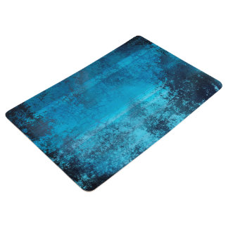 Abstract Pattern Blue Grunge Look Floor Mat