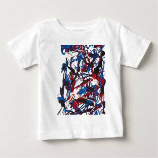 Abstract pattern blue, red, black, white. Modern. Tee Shirt