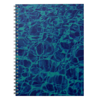 Abstract Pattern Blue Water Background Notebook