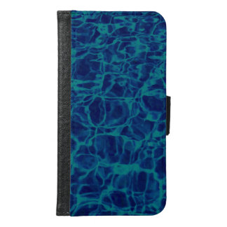 Abstract Pattern Blue Water Background Samsung Galaxy S6 Wallet Case