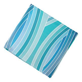 Abstract Pattern Blue Waves Background Bandana