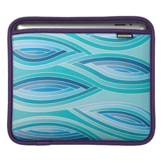 Abstract Pattern Blue Waves Background iPad Sleeve