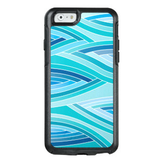 Abstract Pattern Blue Waves Background OtterBox iPhone 6/6s Case