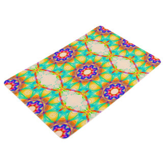 Abstract Pattern Blue White And Red Background Floor Mat