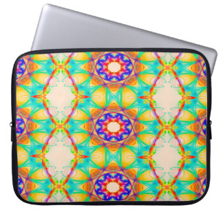 Abstract Pattern Blue White And Red Background Laptop Sleeve
