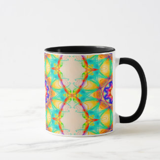 Abstract Pattern Blue White And Red Background Mug