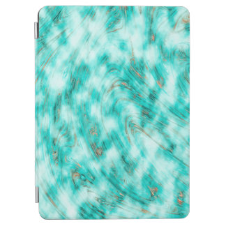 Abstract Pattern Blue & White Whirls iPad Air Cover
