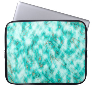 Abstract Pattern Blue & White Whirls Laptop Computer Sleeves