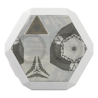 abstract pattern white boombot rex bluetooth speaker