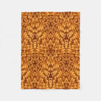 Abstract Pattern Brown Background Fleece Blanket