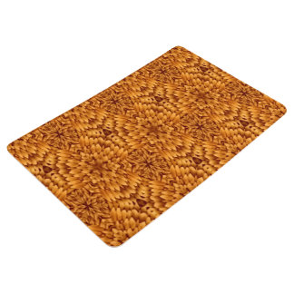 Abstract Pattern Brown Background Floor Mat
