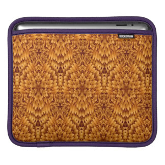 Abstract Pattern Brown Background iPad Sleeve