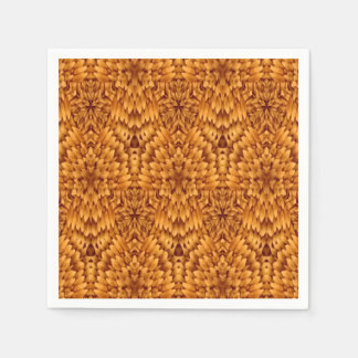 Abstract Pattern Brown Background Paper Napkin