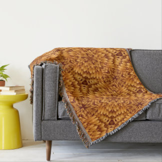 Abstract Pattern Brown Background Throw Blanket