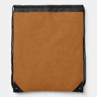 Abstract Pattern brown Drawstring Bag