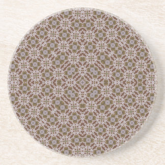 Abstract Pattern Brown Coaster
