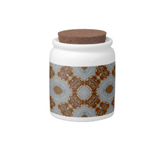 Abstract Pattern brown Candy Jar