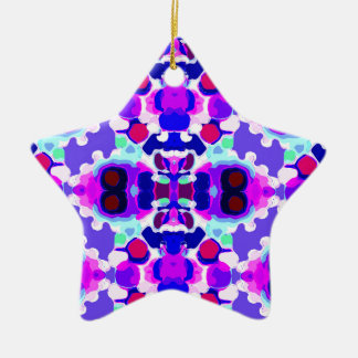 Abstract pattern christmas ornament