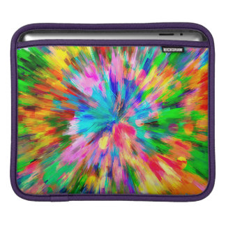 Abstract Pattern Color Explosion iPad Sleeve