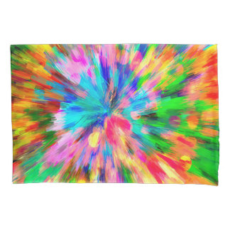 Abstract Pattern Color Explosion Pillowcase