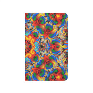 Abstract Pattern Colorful Orange And Blue Design - Journal