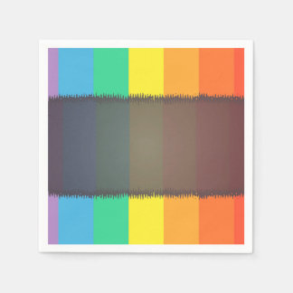 Abstract Pattern Colorful Rainbow Background Paper Napkins