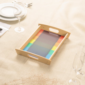 Abstract Pattern Colorful Rainbow Background Serving Tray